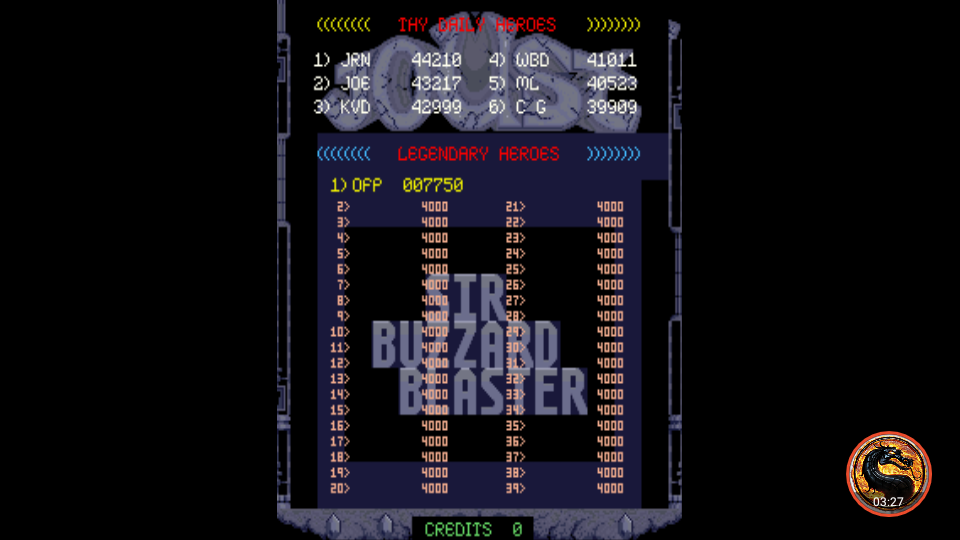 omargeddon: Joust 2 (Arcade Emulated / M.A.M.E.) 7,750 points on 2019-12-21 17:37:40