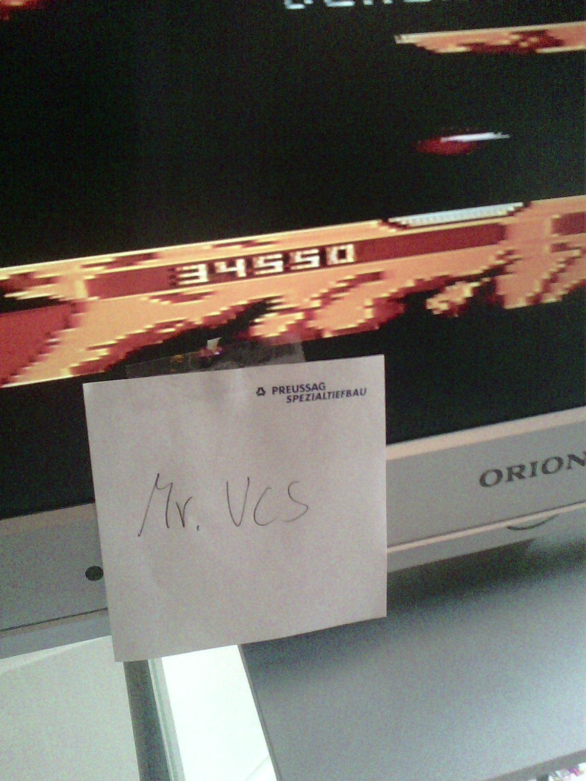 MisterVCS: Joust: Advanced (Atari 400/800/XL/XE) 34,550 points on 2015-10-19 06:45:14
