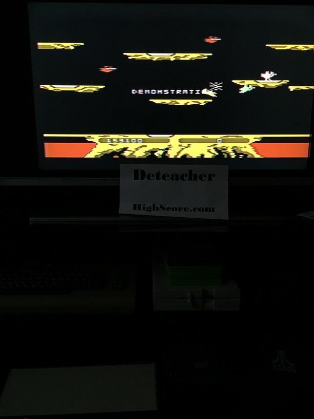 Deteacher: Joust: Advanced (Atari 400/800/XL/XE) 153,100 points on 2016-04-24 16:52:51