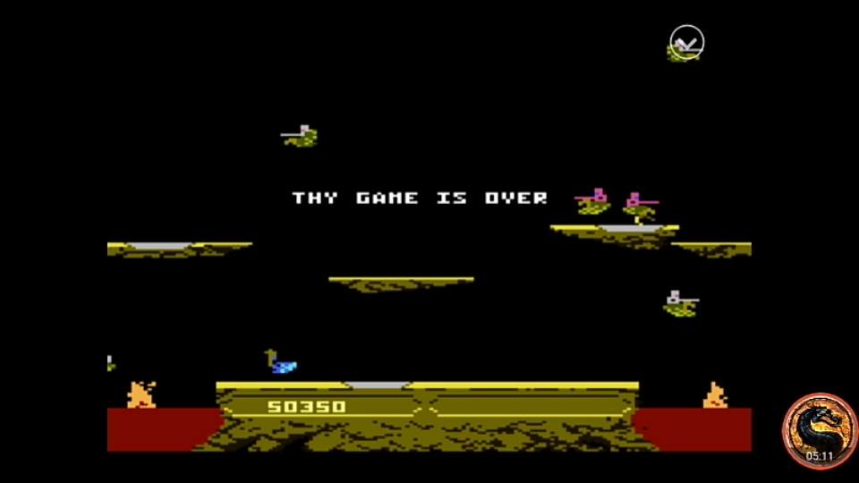 omargeddon: Joust: Advanced (Atari 7800 Emulated) 50,350 points on 2019-12-23 20:08:54