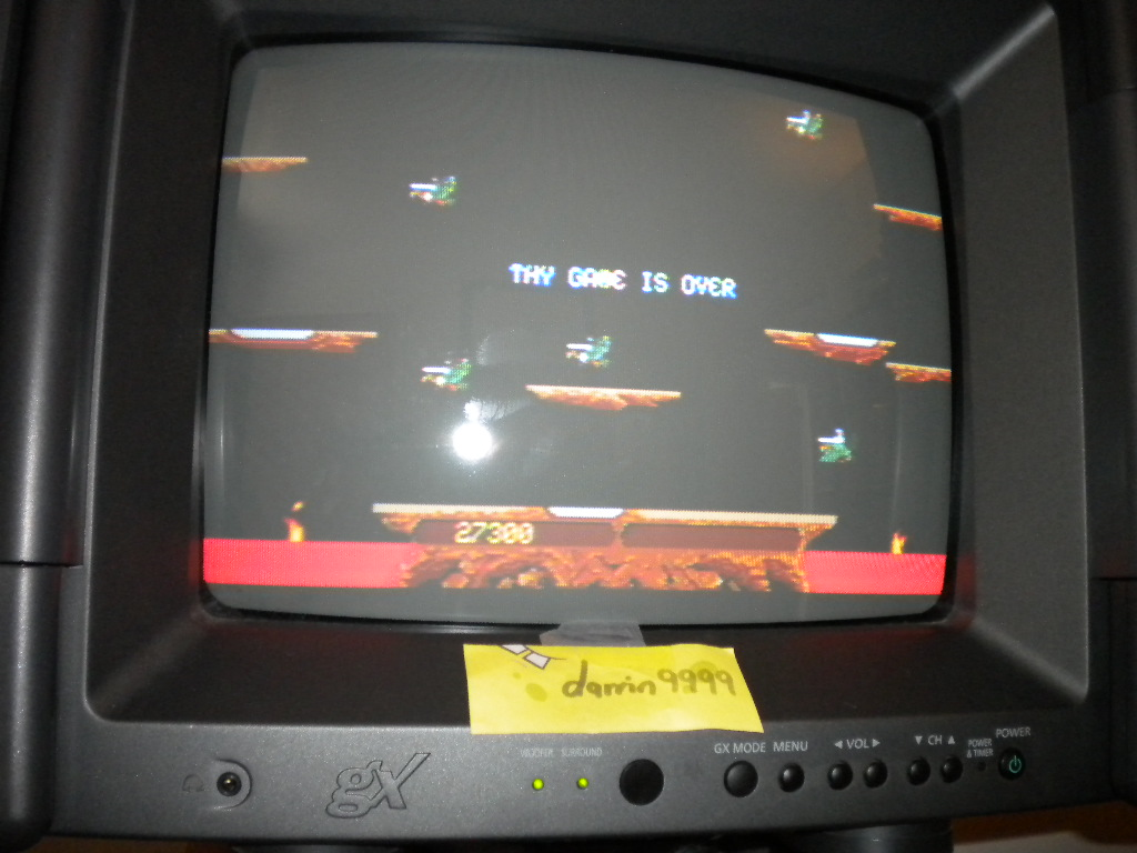 darrin9999: Joust (Atari Jaguar) 27,300 points on 2016-09-07 20:24:59
