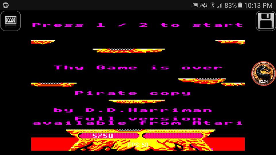 omargeddon: Joust [Atarisoft] (BBC Micro Emulated) 5,750 points on 2019-02-03 22:10:17