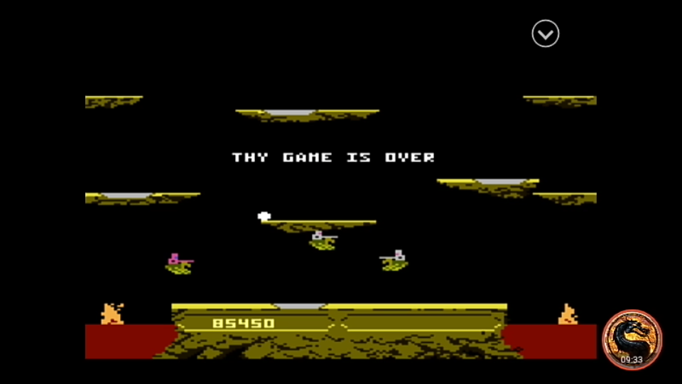 omargeddon: Joust: Beginner (Atari 7800 Emulated) 85,450 points on 2019-12-22 23:24:49