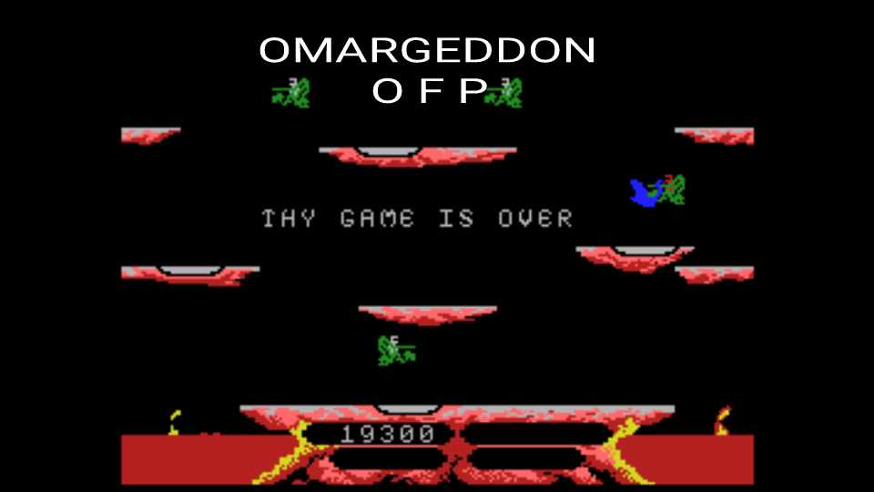 omargeddon: Joust (Colecovision Emulated) 19,300 points on 2016-12-15 23:56:33