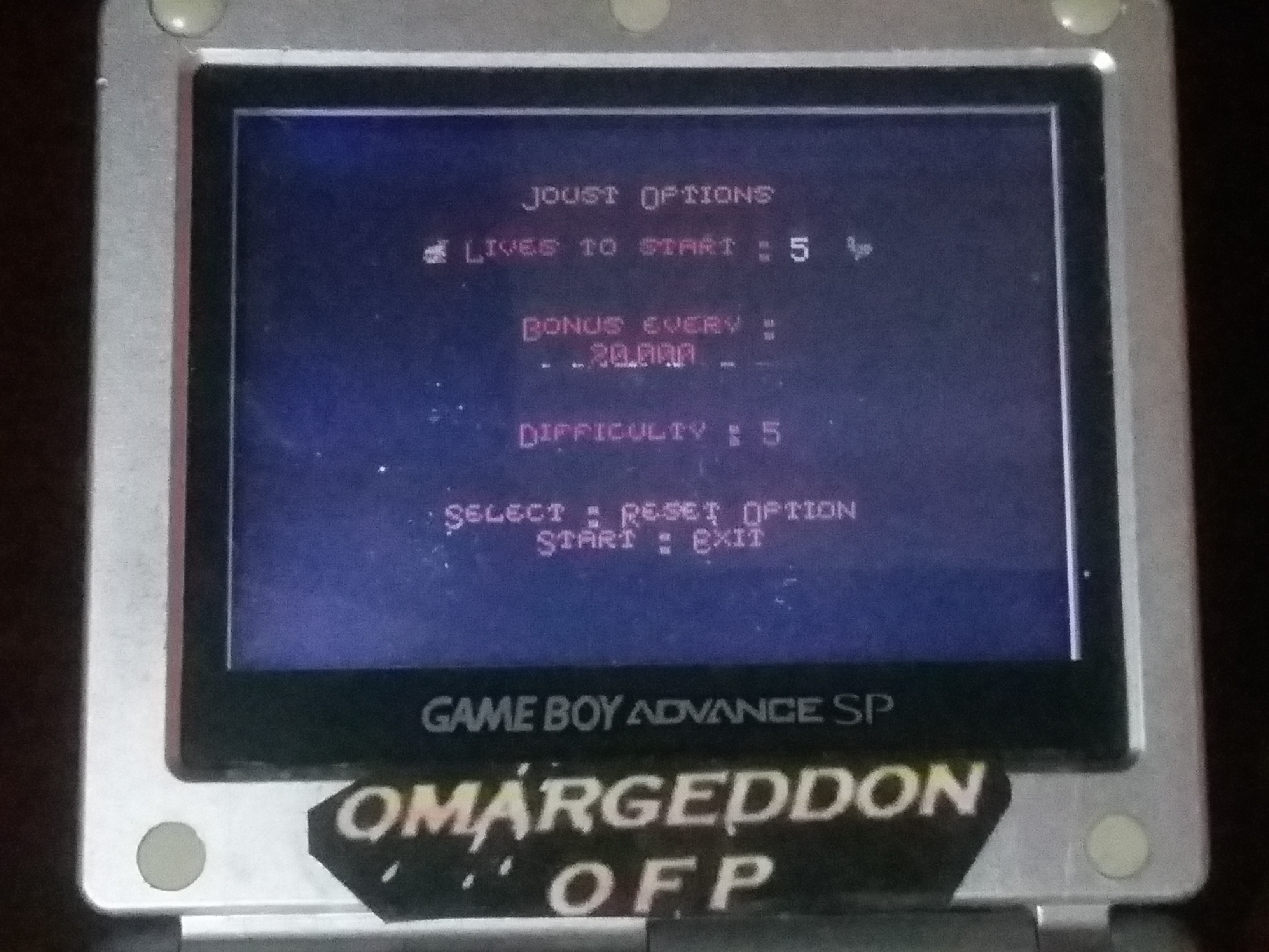 omargeddon: Joust (Game Boy Color) 46,300 points on 2018-03-17 11:45:32