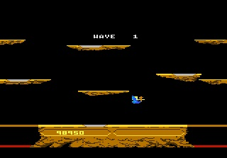 S.BAZ: Joust: Intermediate (Atari 7800 Emulated) 98,950 points on 2019-11-21 14:38:21