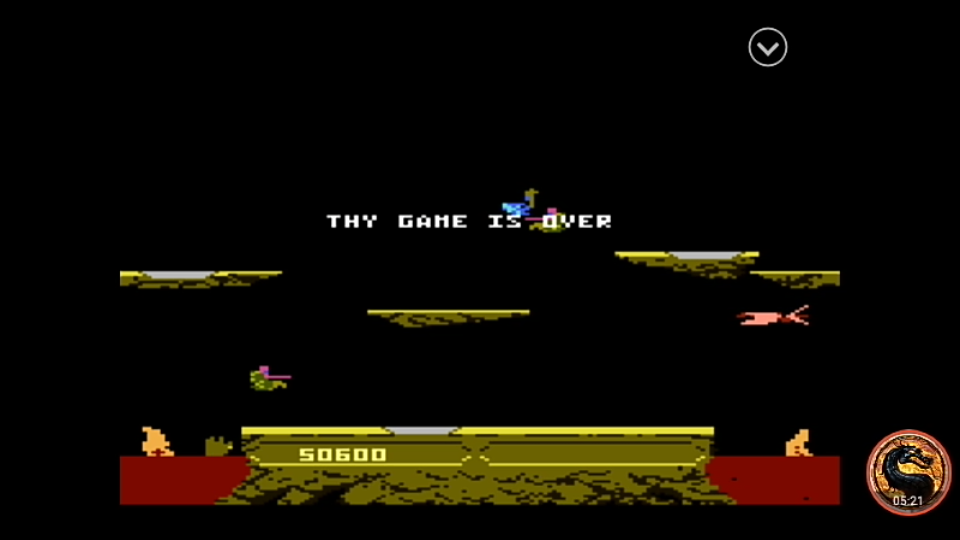 omargeddon: Joust: Intermediate (Atari 7800 Emulated) 50,600 points on 2019-12-23 20:18:43