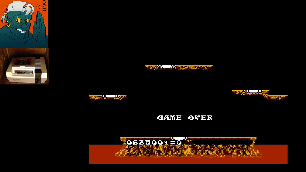 AwesomeOgre: Joust (NES/Famicom) 63,500 points on 2020-03-19 04:43:06