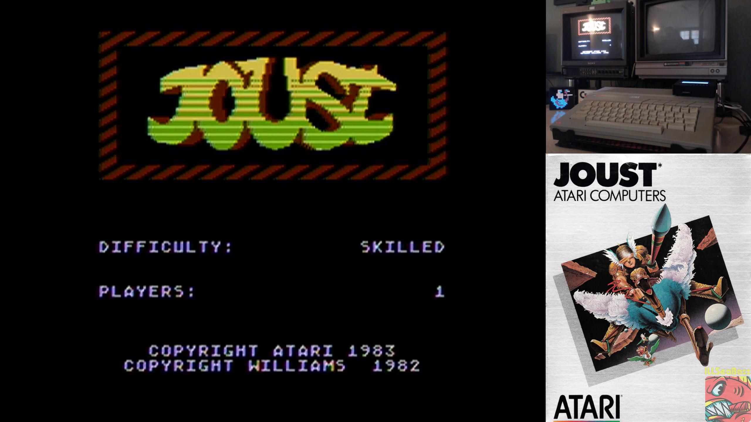 ILLSeaBass: Joust: Skilled (Atari 400/800/XL/XE) 237,550 points on 2019-10-03 00:05:51