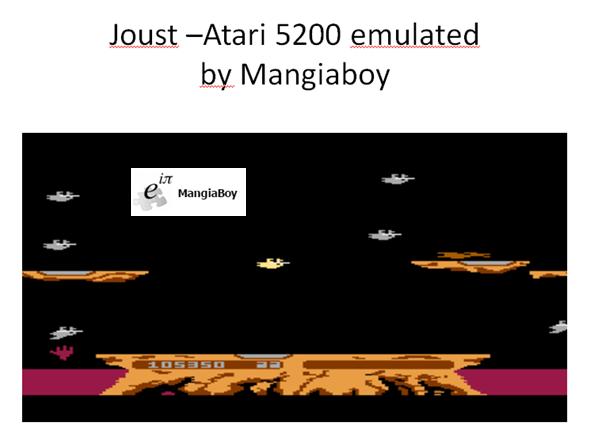 MangiaBoy: Joust: Skilled (Atari 5200 Emulated) 105,350 points on 2015-12-28 17:09:40