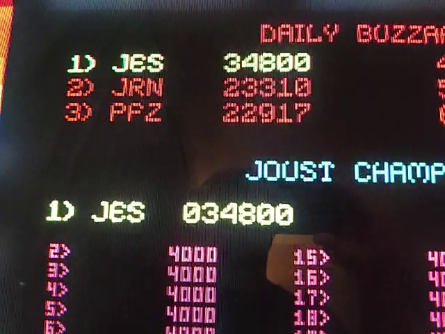 JES: Joust [Solid Red Label] [joustr] (Arcade Emulated / M.A.M.E.) 34,800 points on 2019-01-13 23:28:54