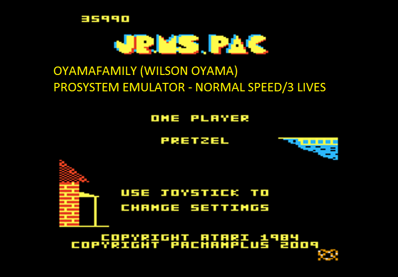 oyamafamily: Jr. Ms. Pac-Man: Pretzel Start (Atari 7800 Emulated) 35,990 points on 2016-03-01 19:29:55