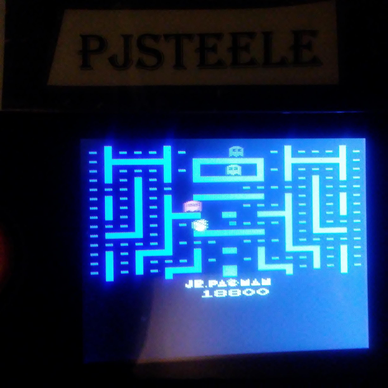 Pjsteele: Jr. Pac-Man (Atari 2600 Emulated) 18,800 points on 2018-02-17 23:13:56