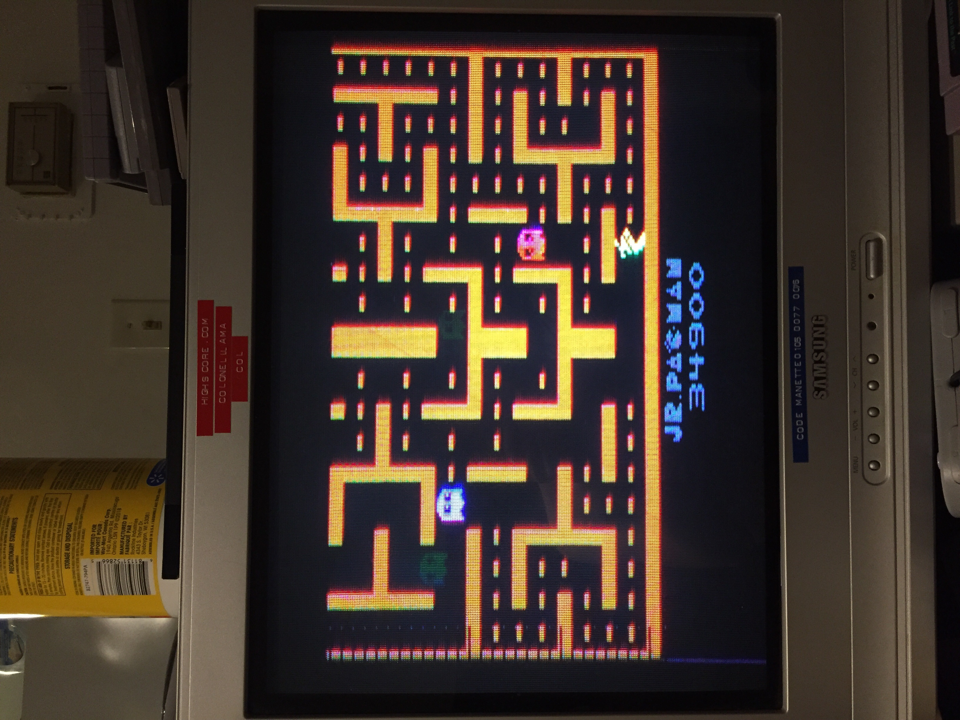 ColonelLlama: Jr. Pac-Man (Atari 2600) 34,900 points on 2019-12-05 22:16:40