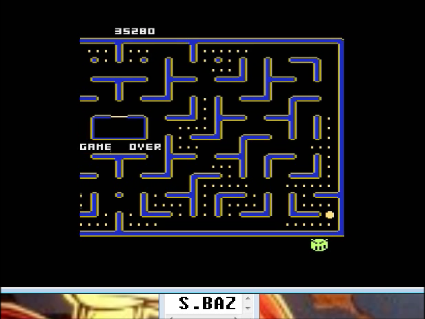 S.BAZ: Jr. Pac-Man (Atari 400/800/XL/XE Emulated) 35,280 points on 2016-05-03 19:29:54