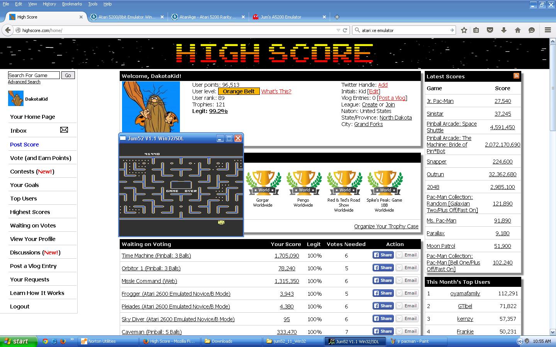 DakotaKid: Jr. Pac-Man (Atari 5200 Emulated) 41,440 points on 2015-09-16 10:02:30
