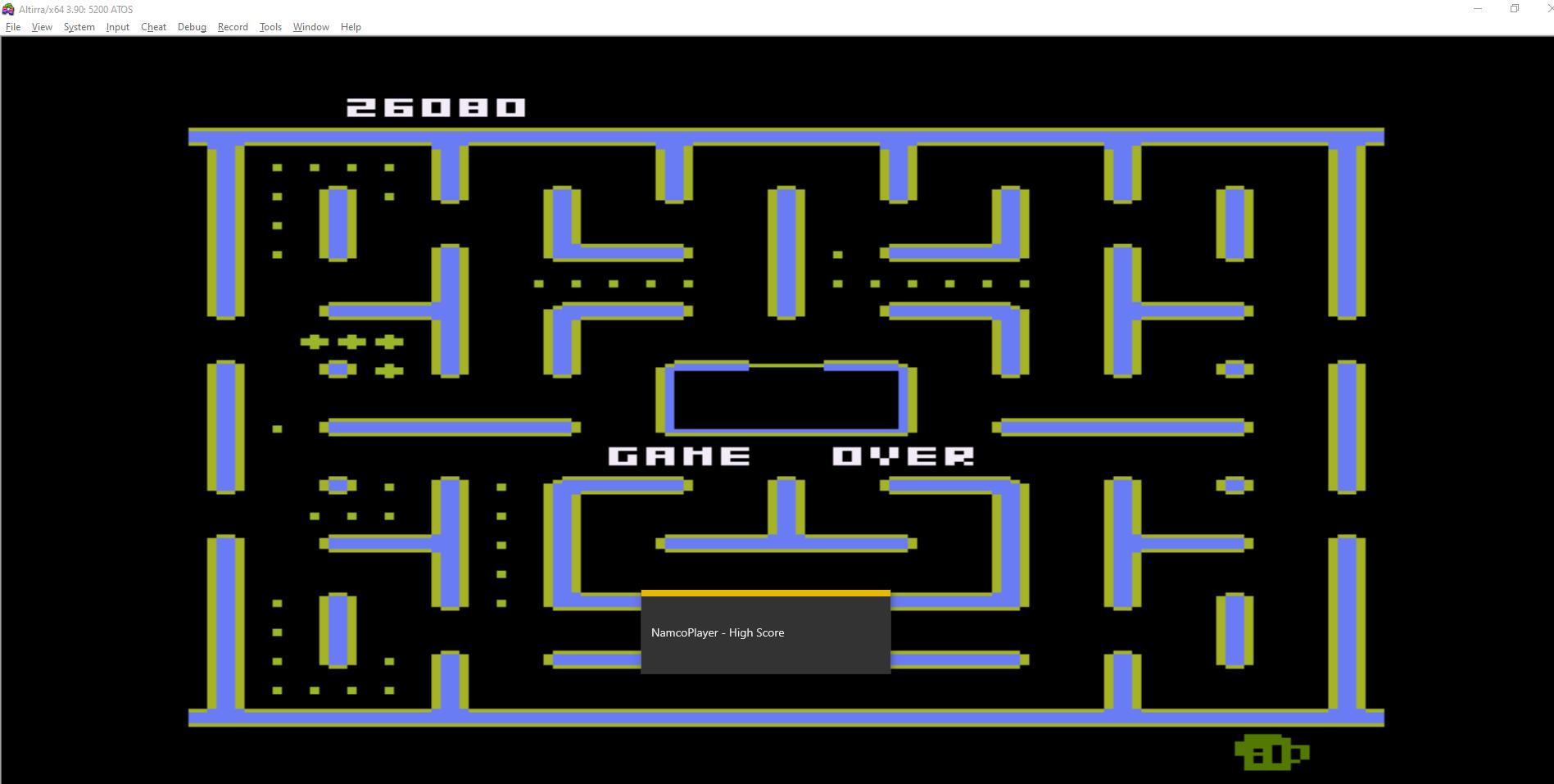 NamcoPlayer: Jr. Pac-Man [Cat Start] (Atari 5200 Emulated) 26,080 points on 2020-10-30 15:03:54