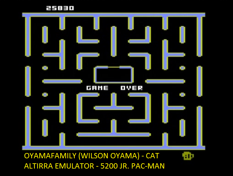 oyamafamily: Jr. Pac-Man [Cat Start] (Atari 5200 Emulated) 25,830 points on 2016-06-29 19:39:47