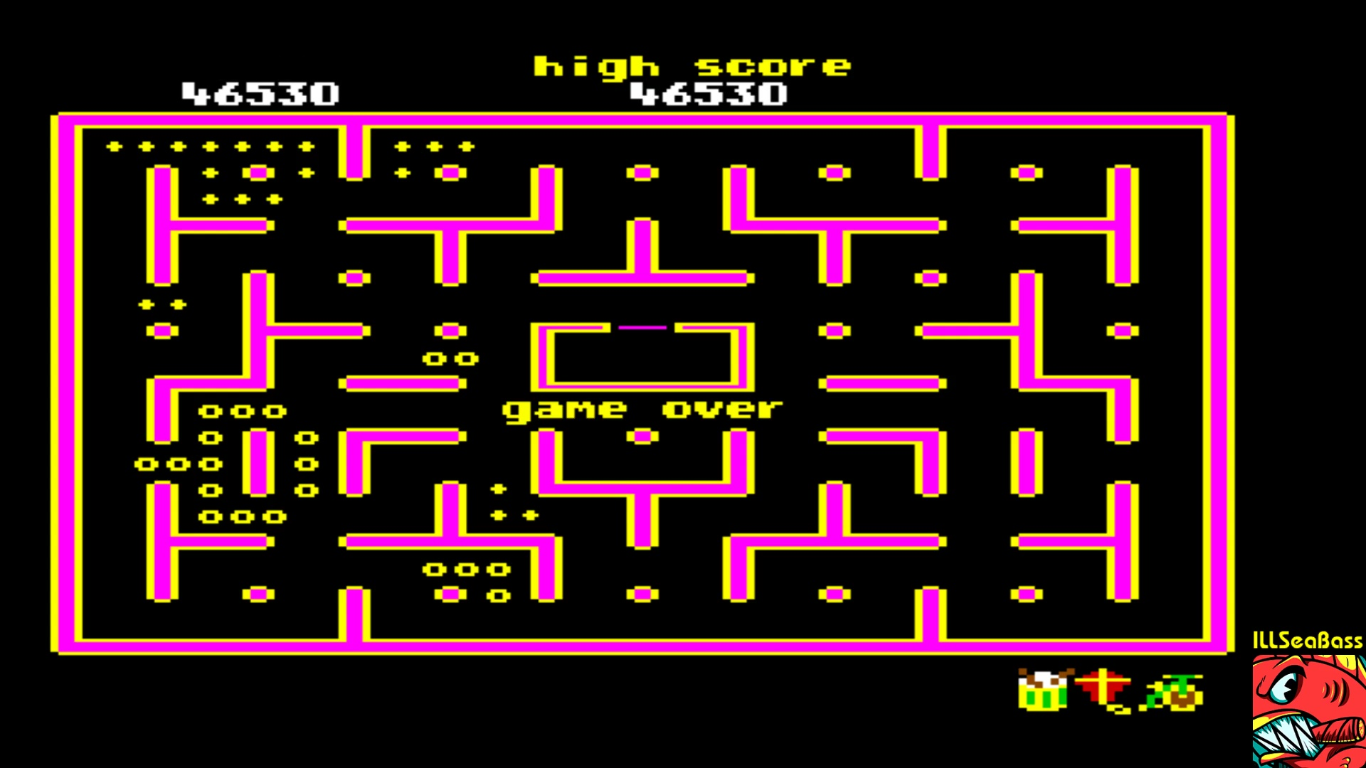 ILLSeaBass: Jr. Pac-Man (Commodore 64 Emulated) 46,530 points on 2018-01-04 22:26:48