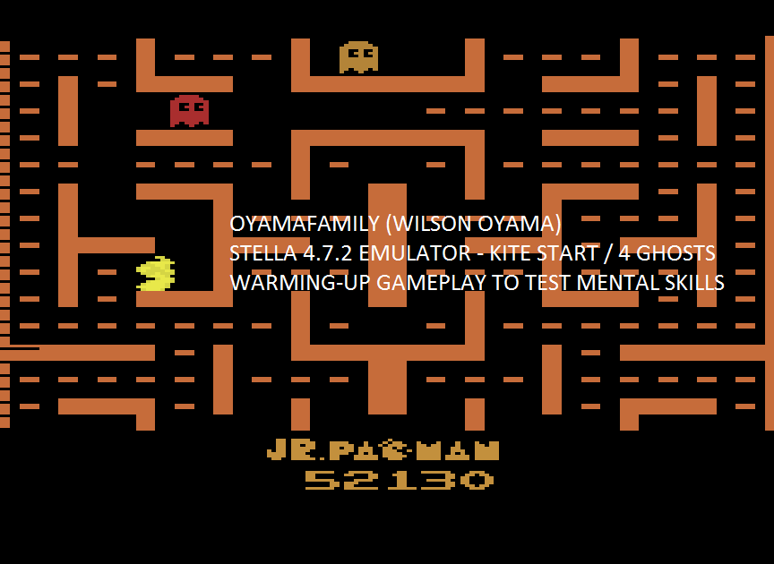 oyamafamily: Jr. Pac-Man: Kite Start [4 Ghosts] (Atari 2600 Emulated) 52,130 points on 2017-02-14 05:20:23