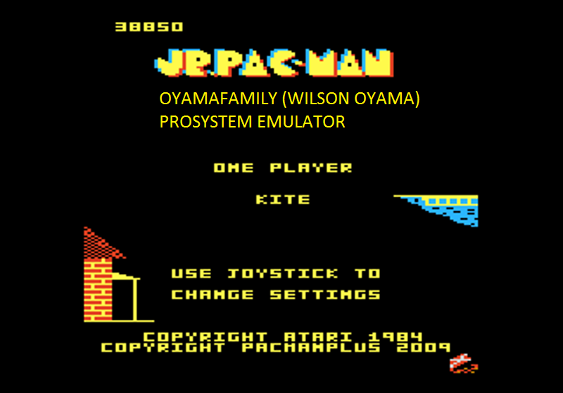oyamafamily: Jr. Pac-Man: Kite Start (Atari 7800 Emulated) 38,850 points on 2016-03-06 18:35:09