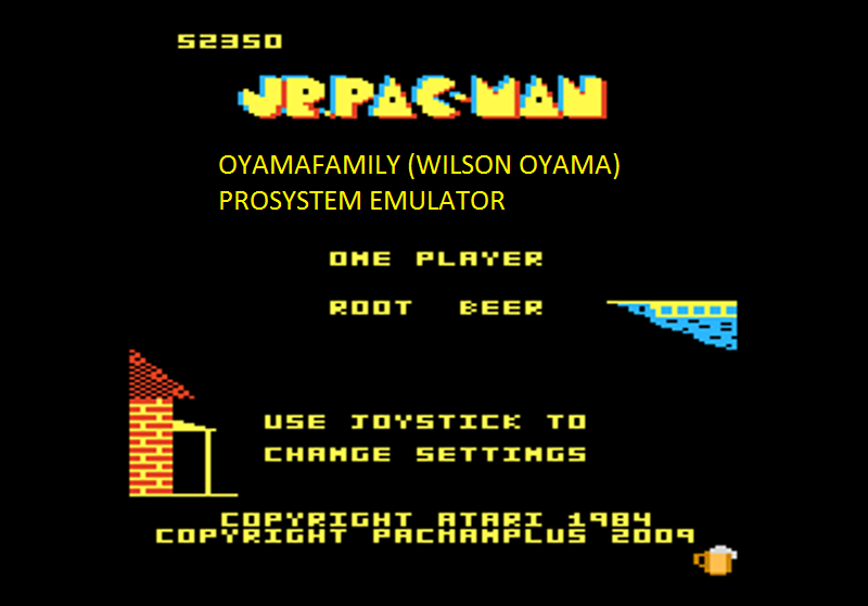 oyamafamily: Jr. Pac-Man: Root Beer Start (Atari 7800 Emulated) 52,350 points on 2016-03-06 18:34:58