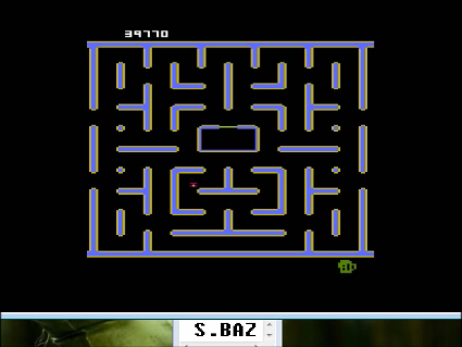 S.BAZ: Jr. Pac-Man: Train Start (Atari 400/800/XL/XE Emulated) 39,770 points on 2016-05-14 15:11:54