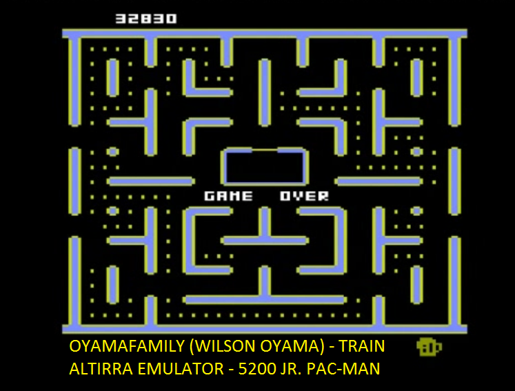 oyamafamily: Jr. Pac-Man [Train Start] (Atari 5200 Emulated) 32,830 points on 2016-06-29 19:39:19
