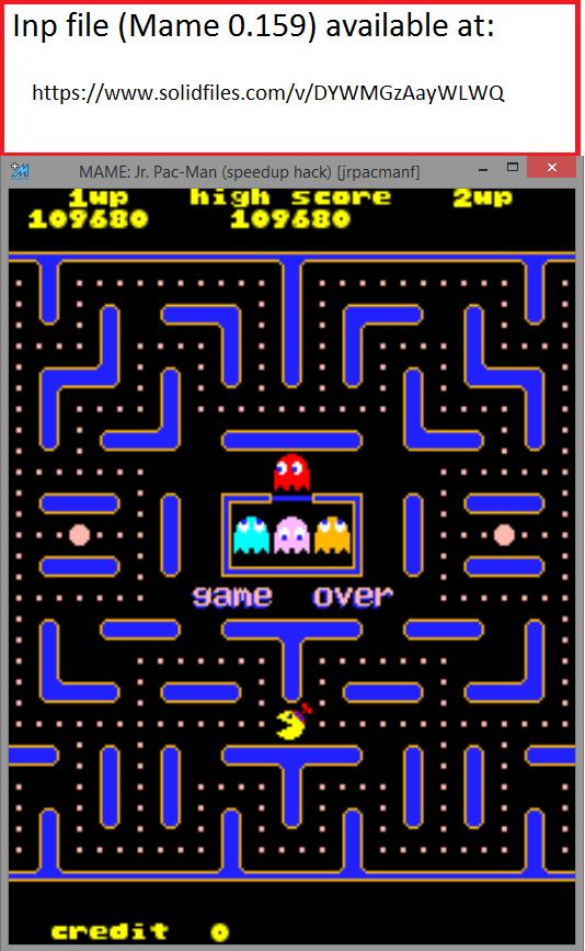 QSpaceman: Jr. Pac-Man Turbo (Arcade Emulated / M.A.M.E.) 109,680 points on 2016-03-10 12:59:37