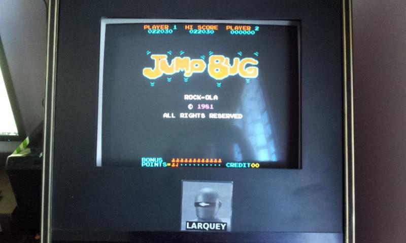 Larquey: Jump Bug (Arcade Emulated / M.A.M.E.) 22,030 points on 2018-04-01 07:19:15