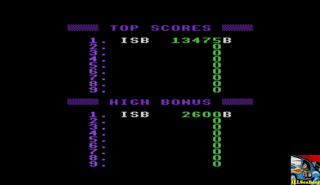 ILLSeaBass: Jumpman (Atari 400/800/XL/XE Emulated) 13,475 points on 2017-01-05 00:54:32