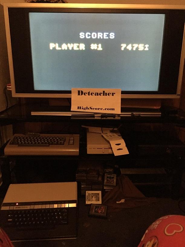Deteacher: Jumpman Junior (Atari 400/800/XL/XE) 7,475 points on 2016-05-08 19:55:46