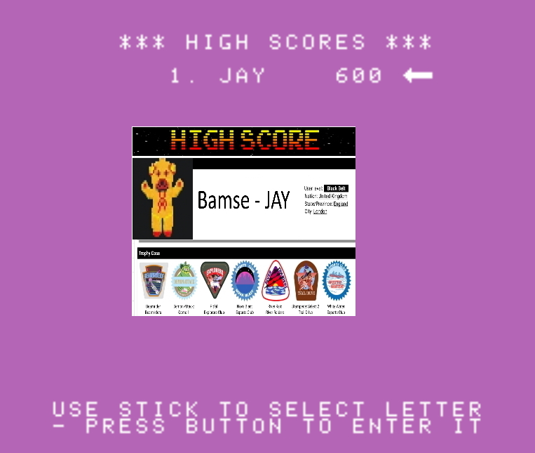 Bamse: Jumpman Junior: Speed 1 (Colecovision Emulated) 600 points on 2019-11-17 16:51:04