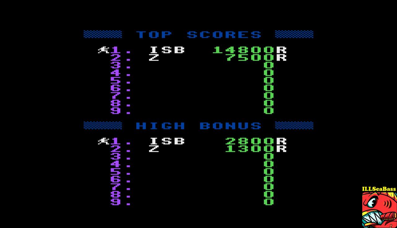 ILLSeaBass: Jumpman:  Randomizer (Atari 400/800/XL/XE Emulated) 14,800 points on 2017-01-15 18:58:42