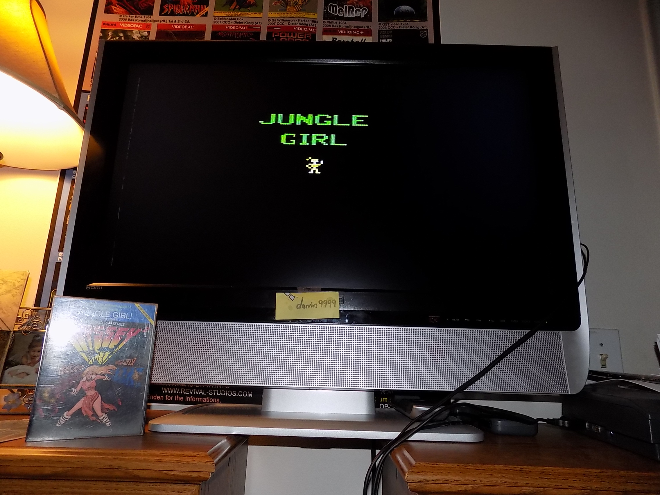 darrin9999: Jungle Girl (Odyssey 2 / Videopac) 65 points on 2018-02-04 14:38:27