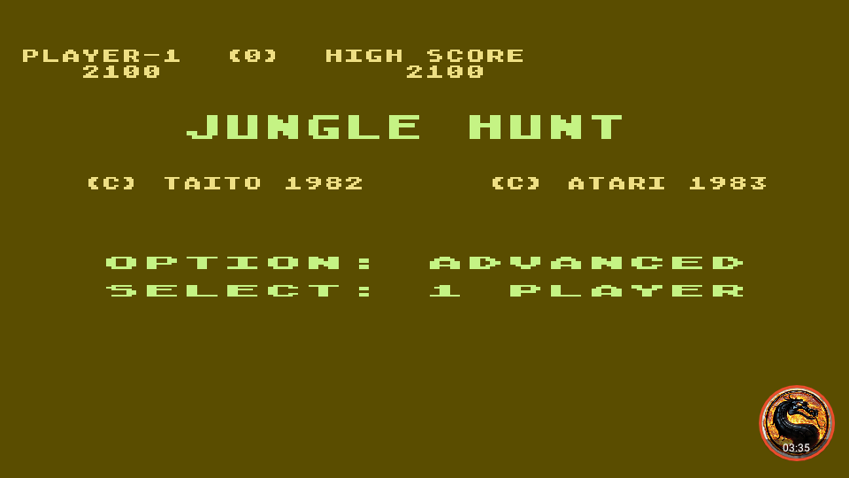 omargeddon: Jungle Hunt [Advanced] (Atari 400/800/XL/XE Emulated) 2,100 points on 2019-02-28 21:32:54