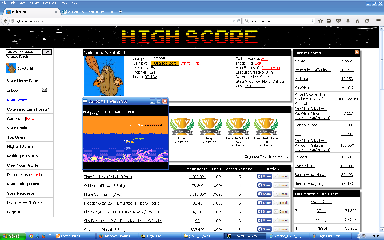 Jungle Hunt: Advanced 1,900 points