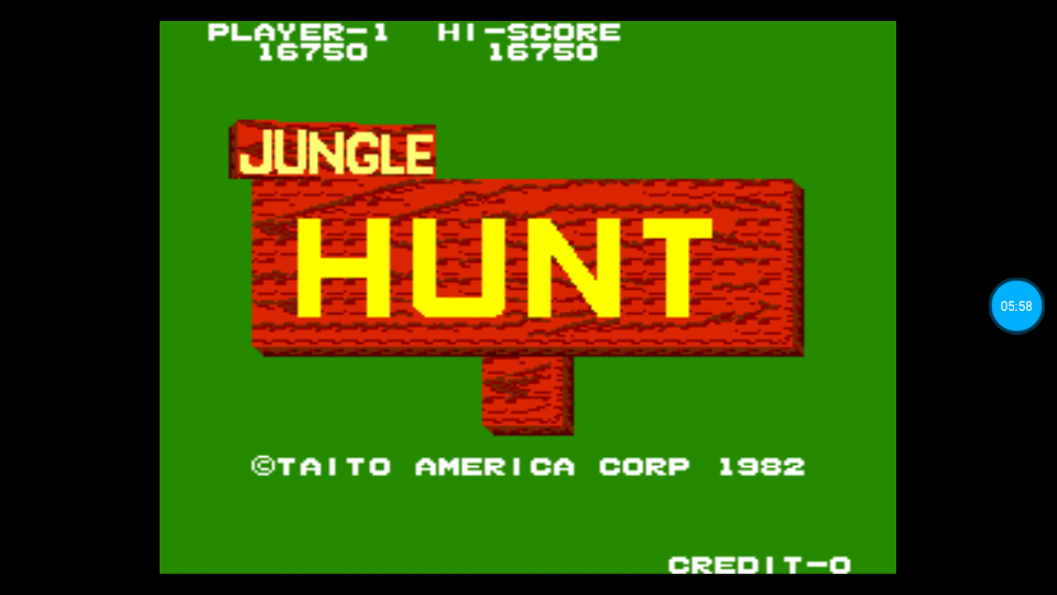 omargeddon: Jungle Hunt (Arcade Emulated / M.A.M.E.) 16,750 points on 2018-06-23 22:17:18