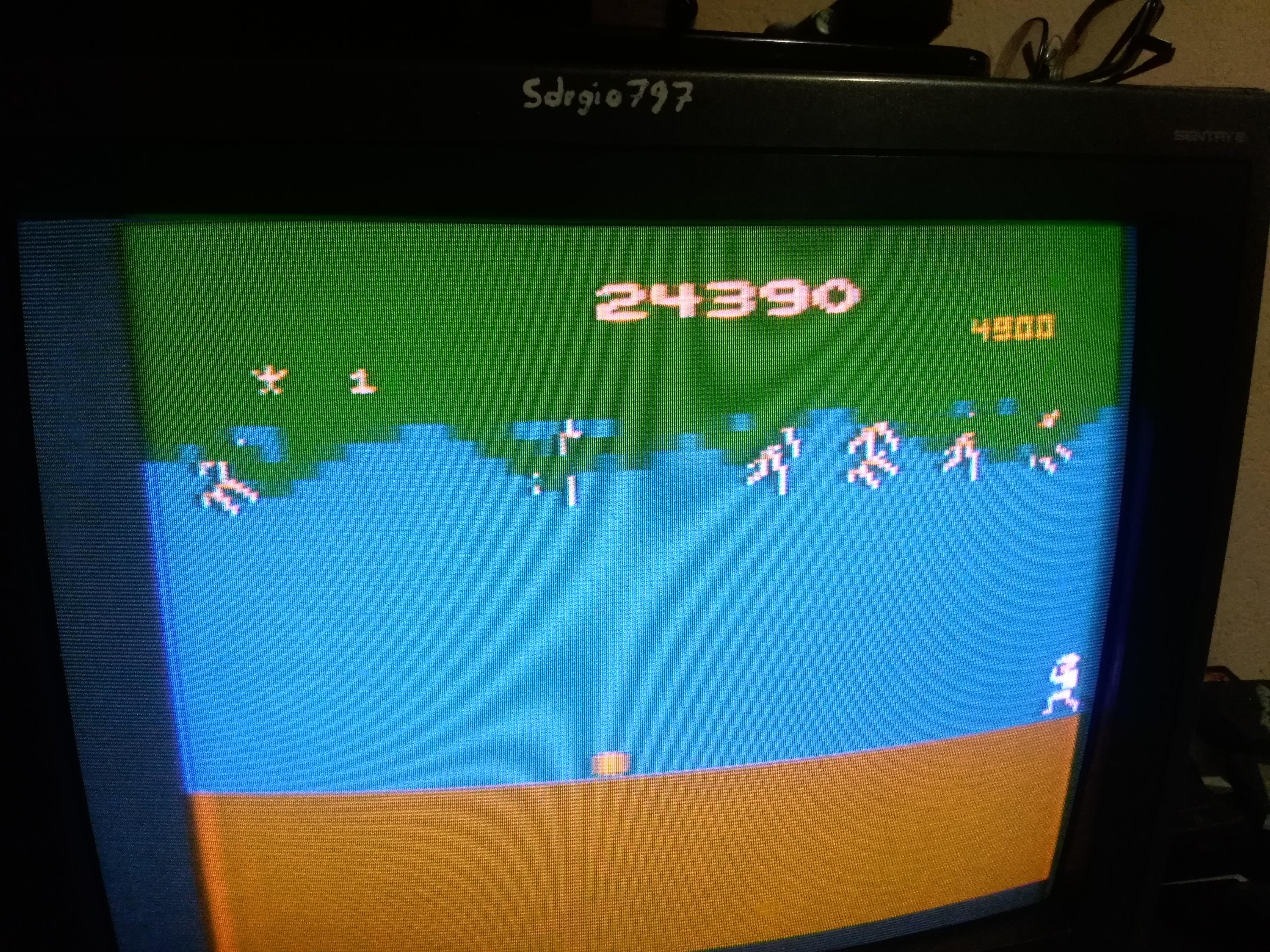 Sdrgio797: Jungle Hunt (Atari 2600) 24,390 points on 2020-06-28 03:07:40