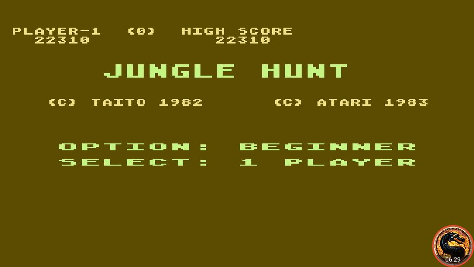 omargeddon: Jungle Hunt [Beginner] (Atari 400/800/XL/XE Emulated) 22,310 points on 2019-09-09 18:20:21