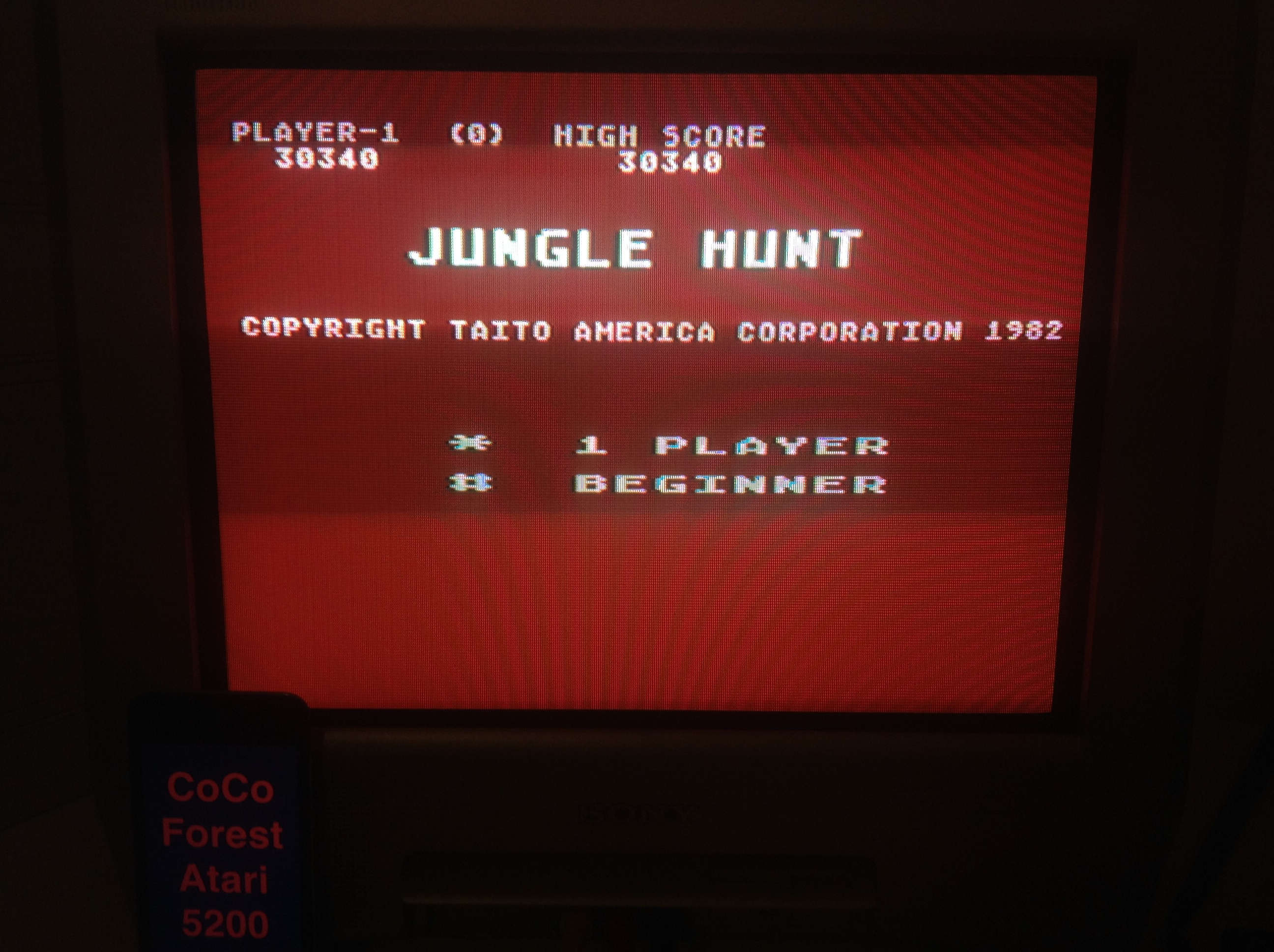 CoCoForest: Jungle Hunt: Beginner (Atari 5200) 30,340 points on 2015-11-17 13:13:38