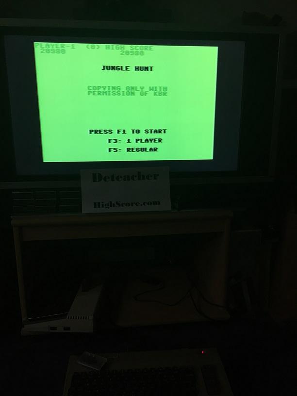 Deteacher: Jungle Hunt (Commodore 64) 20,980 points on 2015-11-29 19:39:31