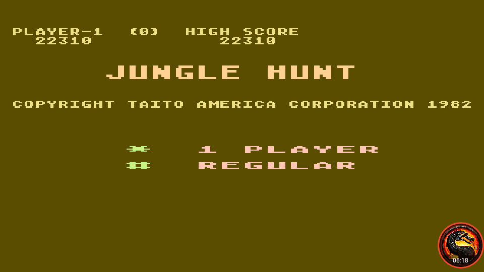 omargeddon: Jungle Hunt: Medium (Atari 5200 Emulated) 22,310 points on 2020-03-19 02:01:35