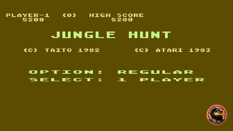 omargeddon: Jungle Hunt [Regular] (Atari 400/800/XL/XE Emulated) 5,200 points on 2019-02-28 21:31:59