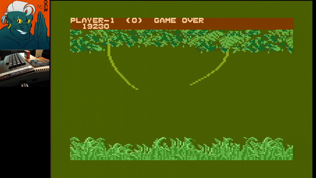 AwesomeOgre: Jungle Hunt [Regular] (Atari 400/800/XL/XE) 19,230 points on 2020-03-16 05:30:49