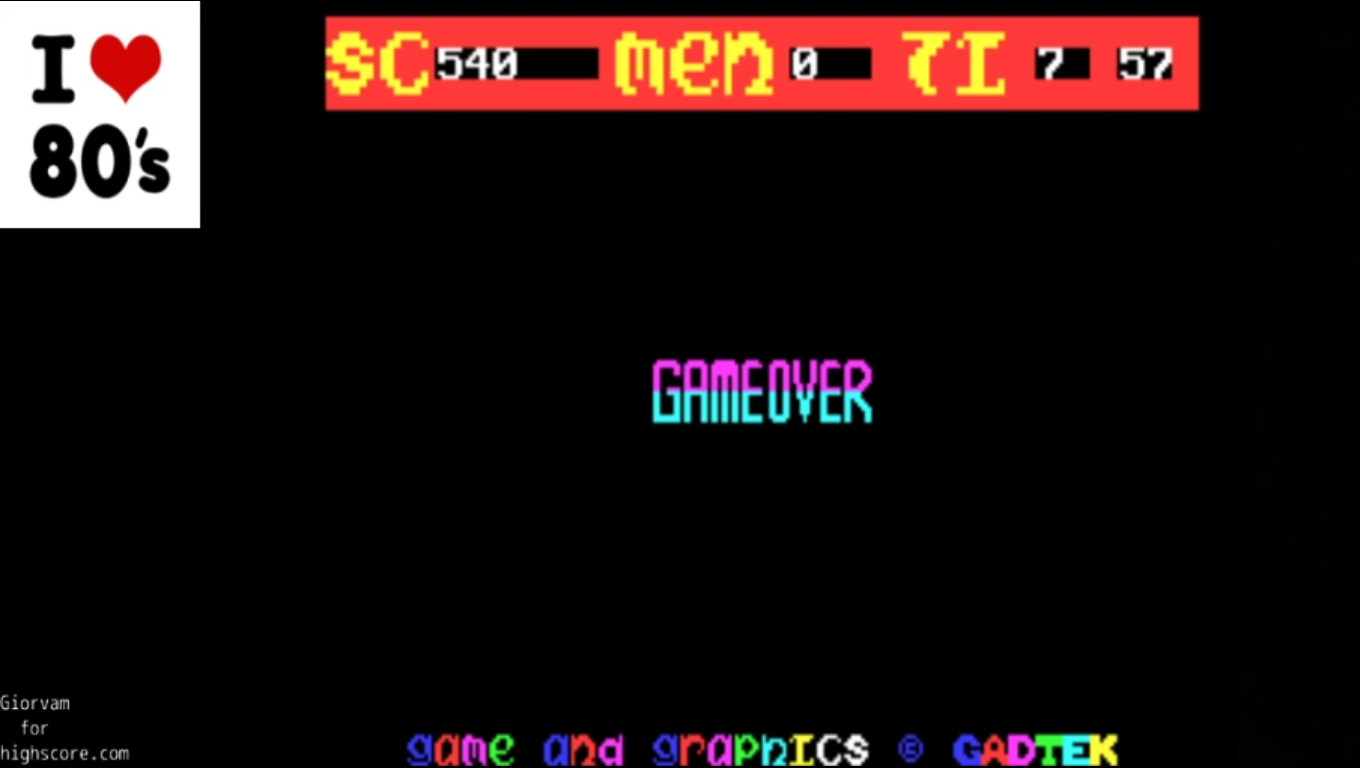 Giorvam: Jungle Jie (ZX Spectrum Emulated) 540 points on 2020-03-05 04:46:01