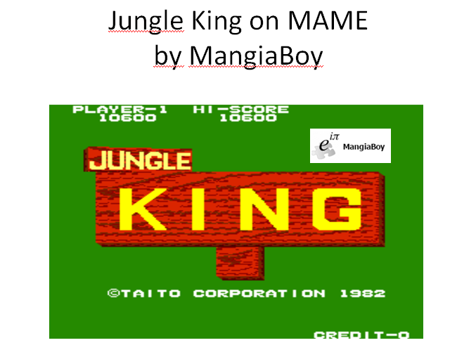 MangiaBoy: Jungle King (Arcade Emulated / M.A.M.E.) 10,600 points on 2016-01-05 20:50:48