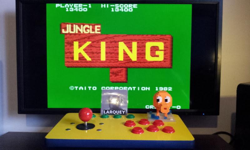 Larquey: Jungle King (Arcade Emulated / M.A.M.E.) 13,400 points on 2017-01-15 03:54:51