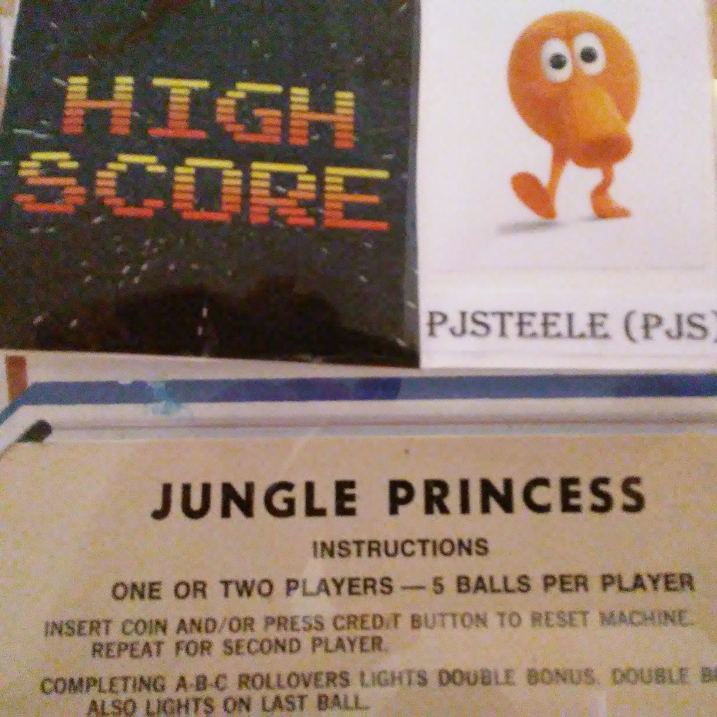 Pjsteele: Jungle Princess (Pinball: 5 Balls) 32,830 points on 2017-12-31 19:42:38