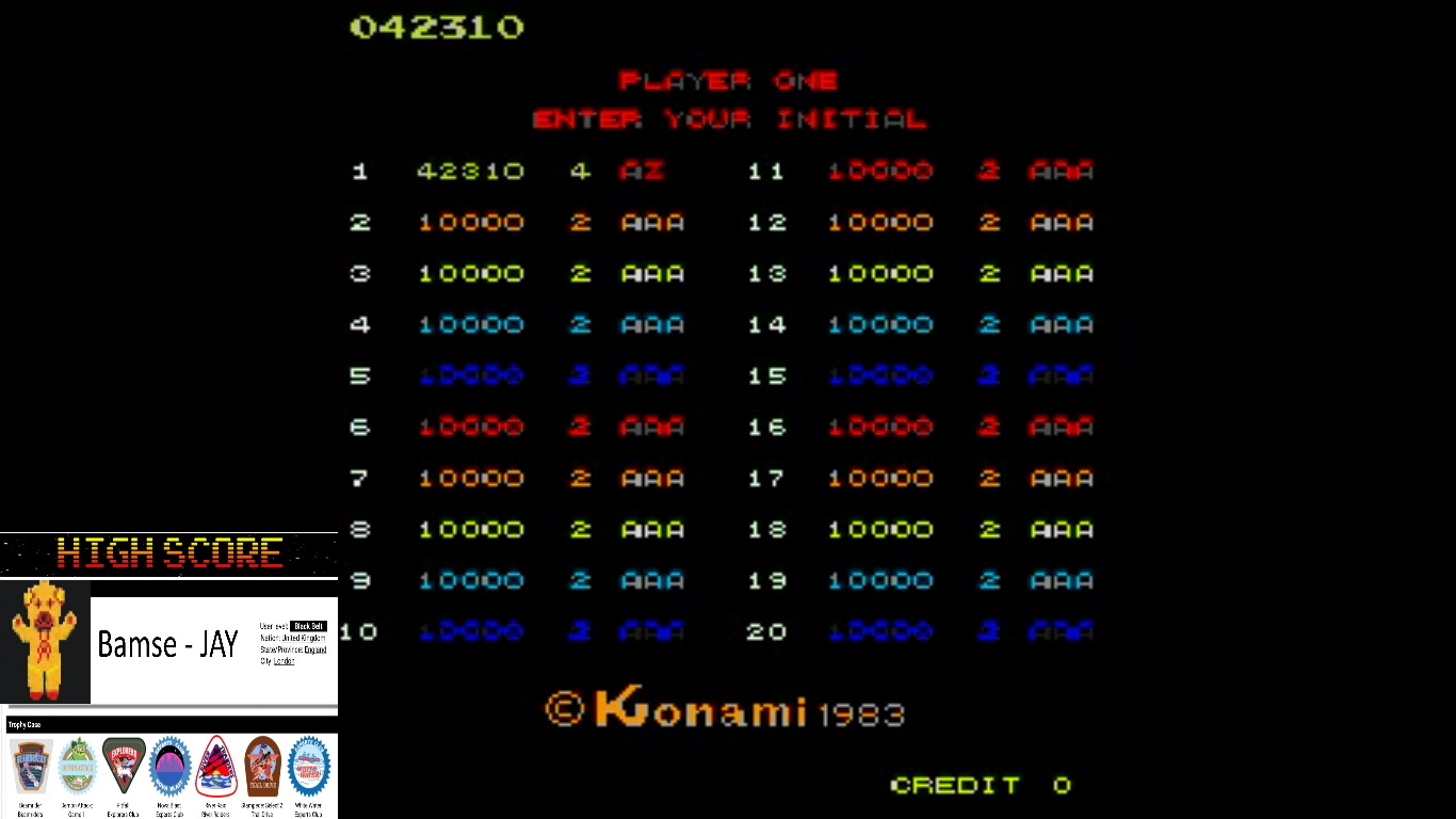 Bamse: Juno First (Arcade Emulated / M.A.M.E.) 42,310 points on 2019-10-23 18:30:46